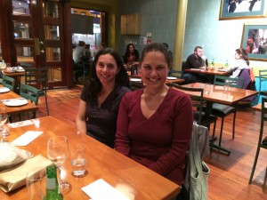 Maria Bargh and Emalani Case at a Castro Street eatery in Wellington